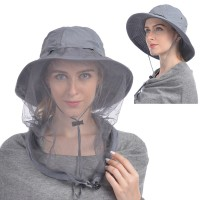 USHAKE Mosquito Head Net Hat