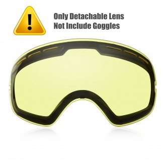 CLEAR LENS FOR SKI GOGGLES(FOR CLOUDY WEATHER)