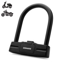 Heavy Duty U Lock, USHAKE Bike Bicycles Motorcycles Combination Lock Heavy Duty Combo Gate Lock for Anti Theft-14mm